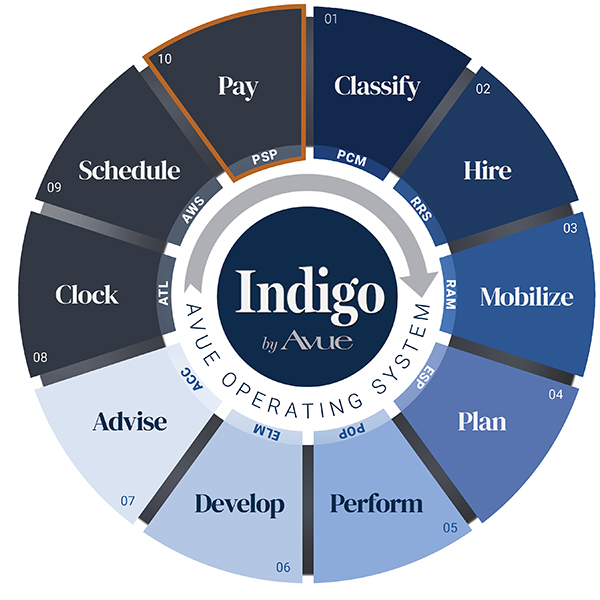 Indigo by Avue Payroll Service Processing